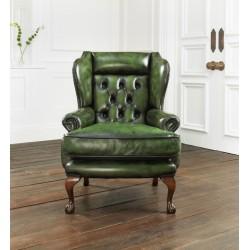 Fauteuil Chesterfield Osborne - Cuir Antique Green