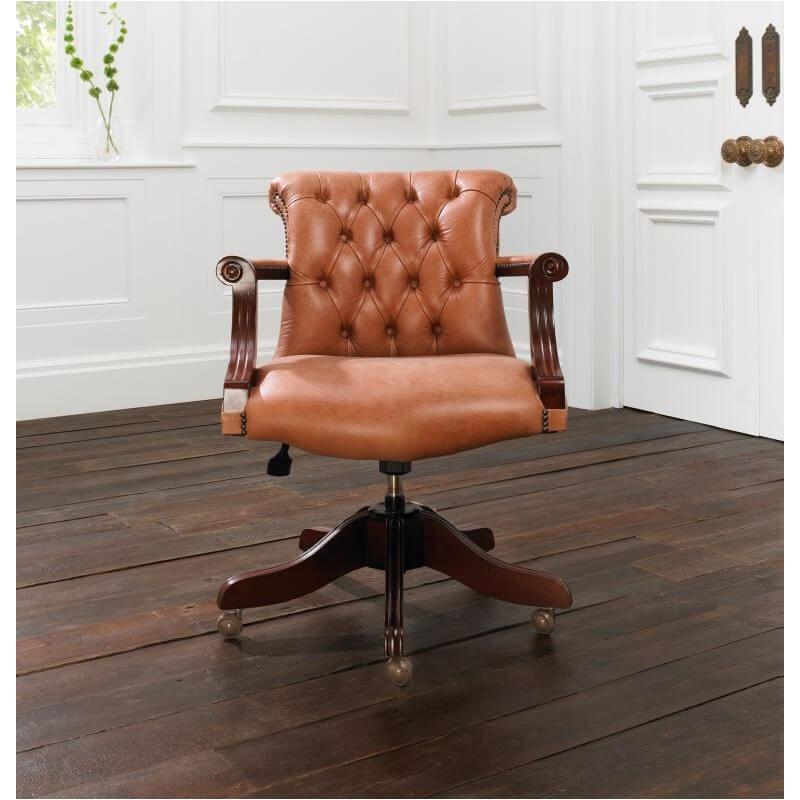 Distinctive chesterfields fauteuil de bureau anglais admiral - Fauteuil de bureau chesterfield ...