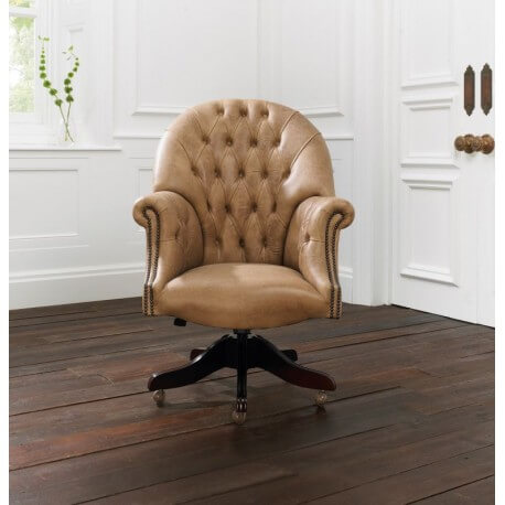Fauteuil de Bureau Director - Cuir Premium Old English Parchment
