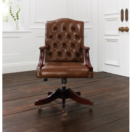 distinctive chesterfields fauteuil de bureau anglais gainsborough. Black Bedroom Furniture Sets. Home Design Ideas