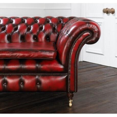Surcoussin - cuir Antique Red