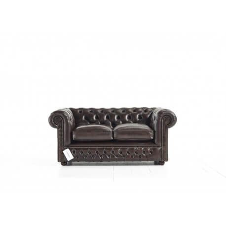 Canapé Holyrood 2 places - Cuir Antique Brown