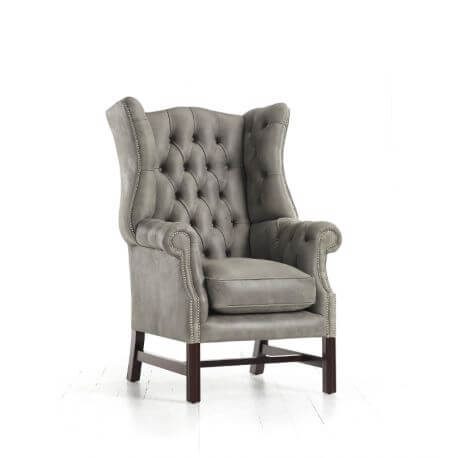 Fauteuil Chesterfield Paxton - Cuir Premium Dolphin