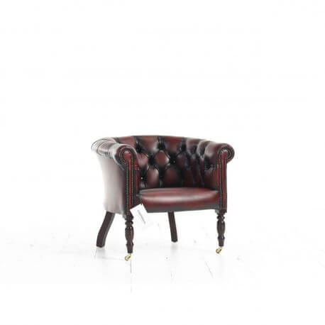 Fauteuil Chesterfield Oxford - Cuir Standard Antique Red