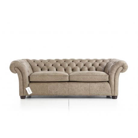 Chesterfield Wandsworth - 3 places - Cuir Premium Hare (sur mesure)