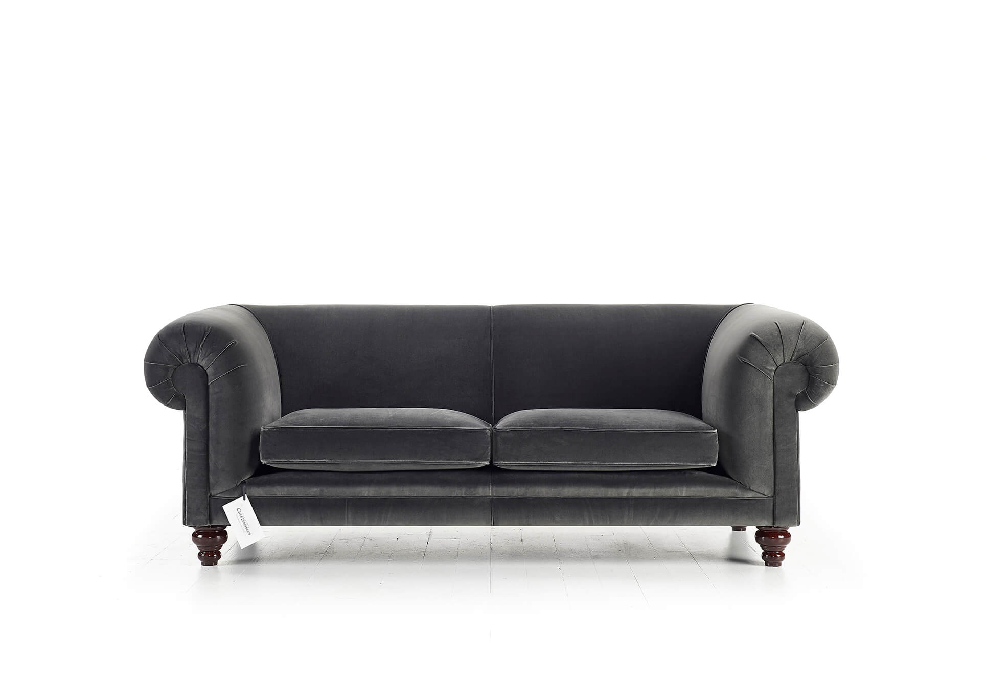 Canapé Chesterfield Northbank en velours gris