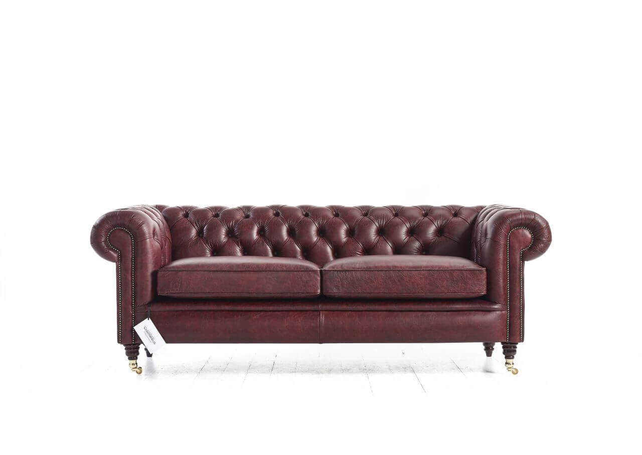 Canapé Chesterfield Rouge Belchamps