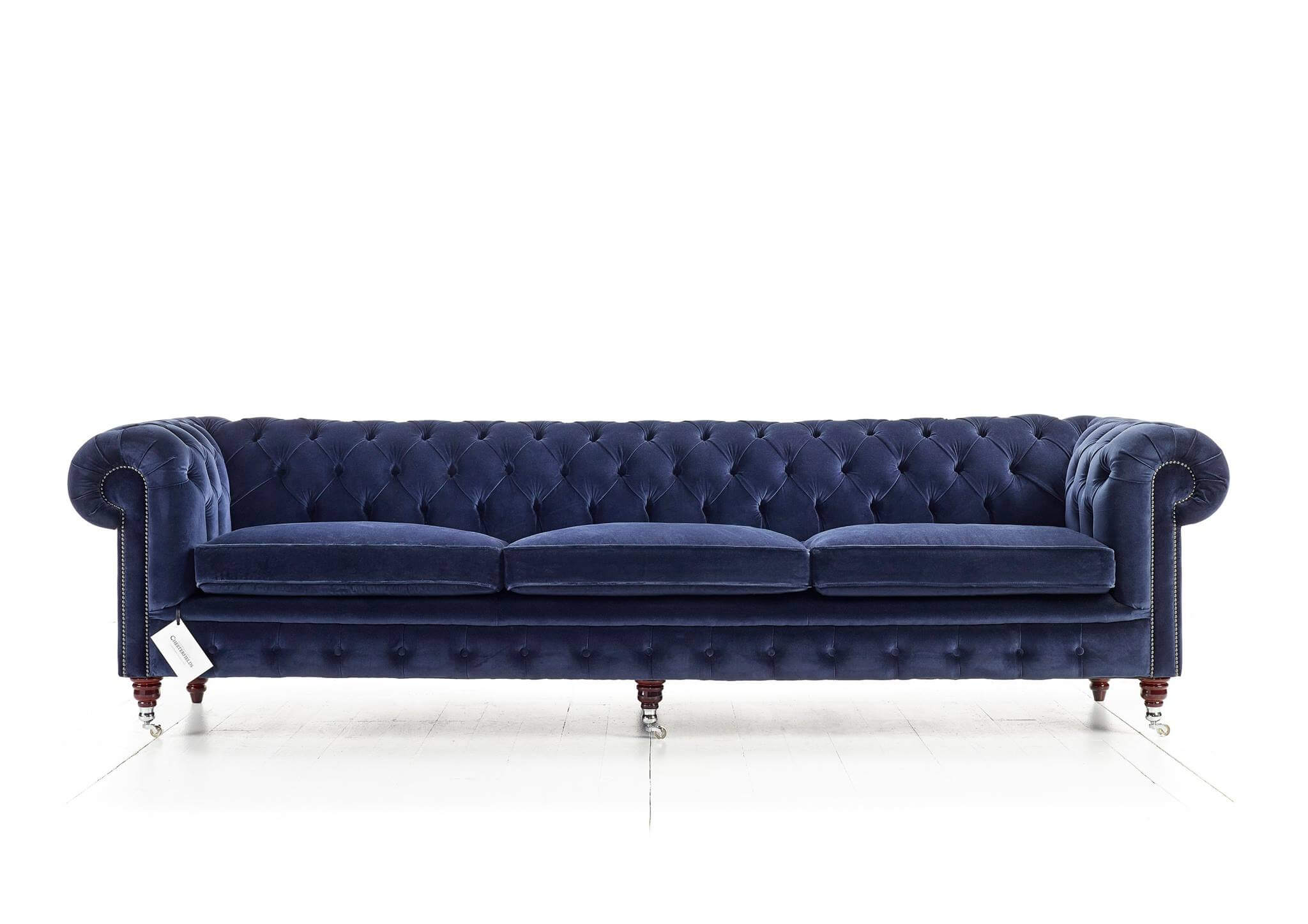 Canapé Chesterfield Belchamp 4 places en velours
