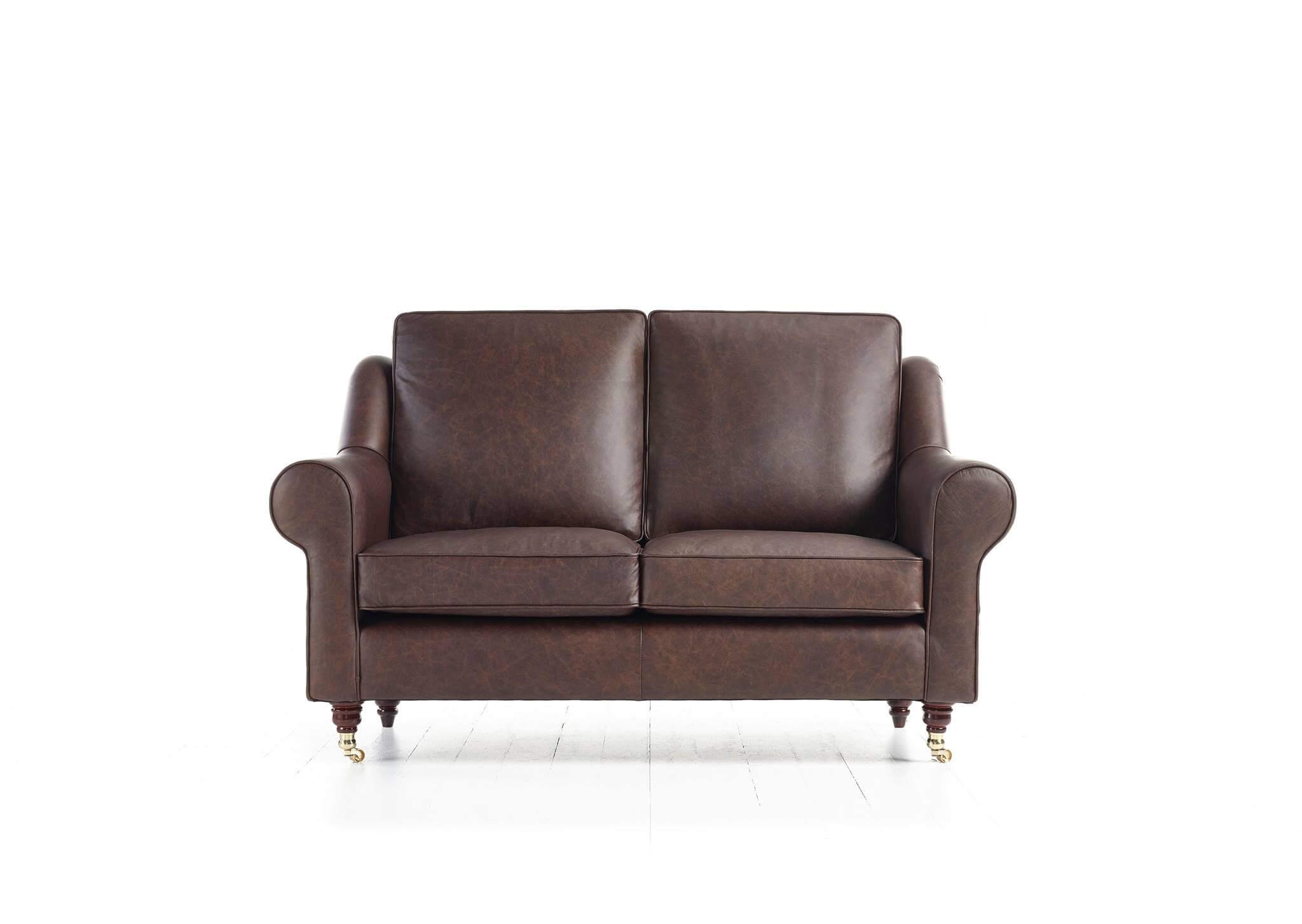Canapé Clapham en cuir Marron