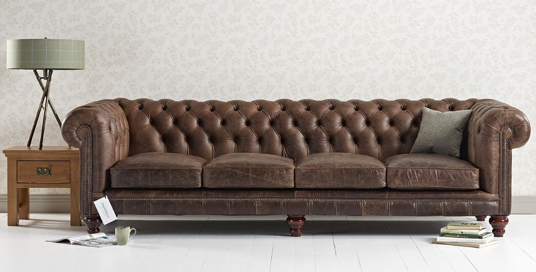 Canapé Chesterfield Marron Hampton