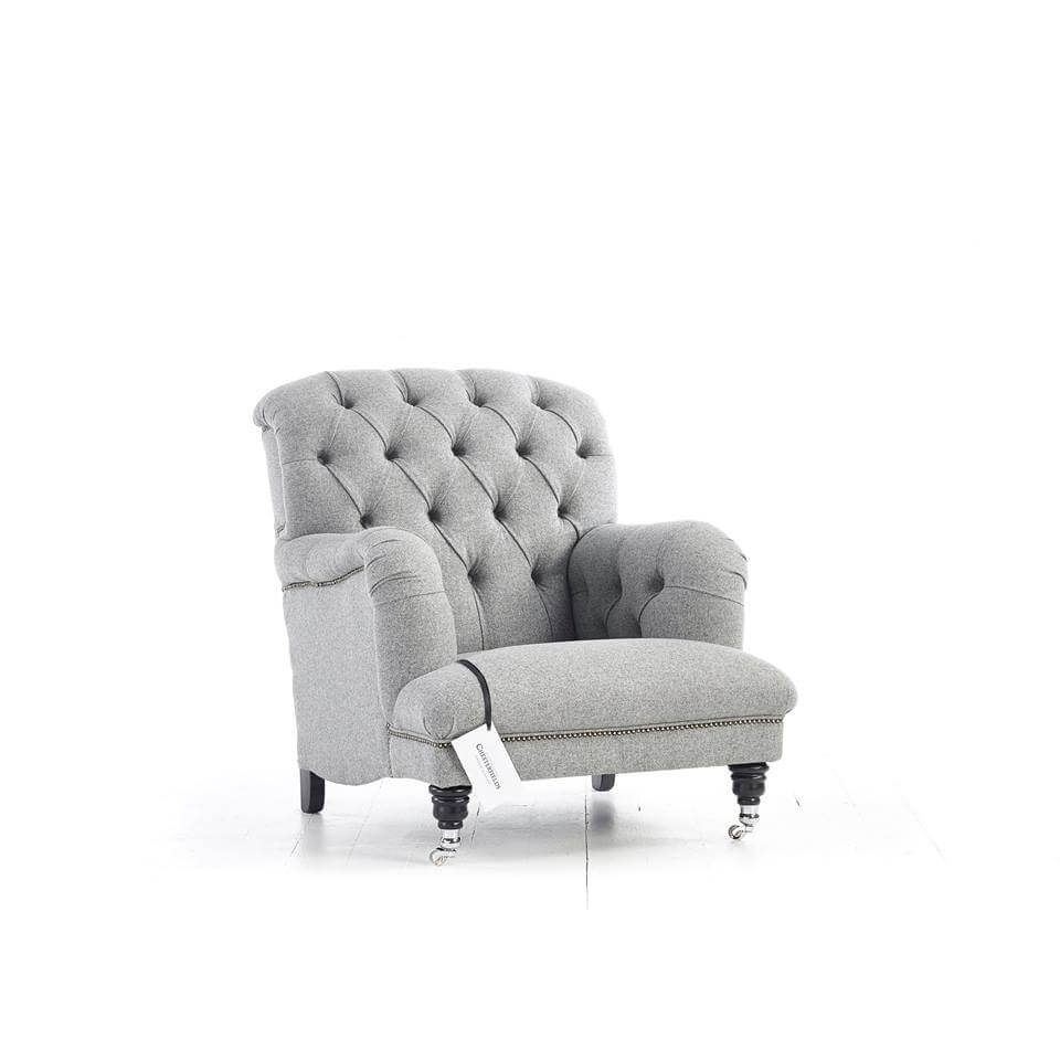 Fauteuil Chesterfield Howard en Laine