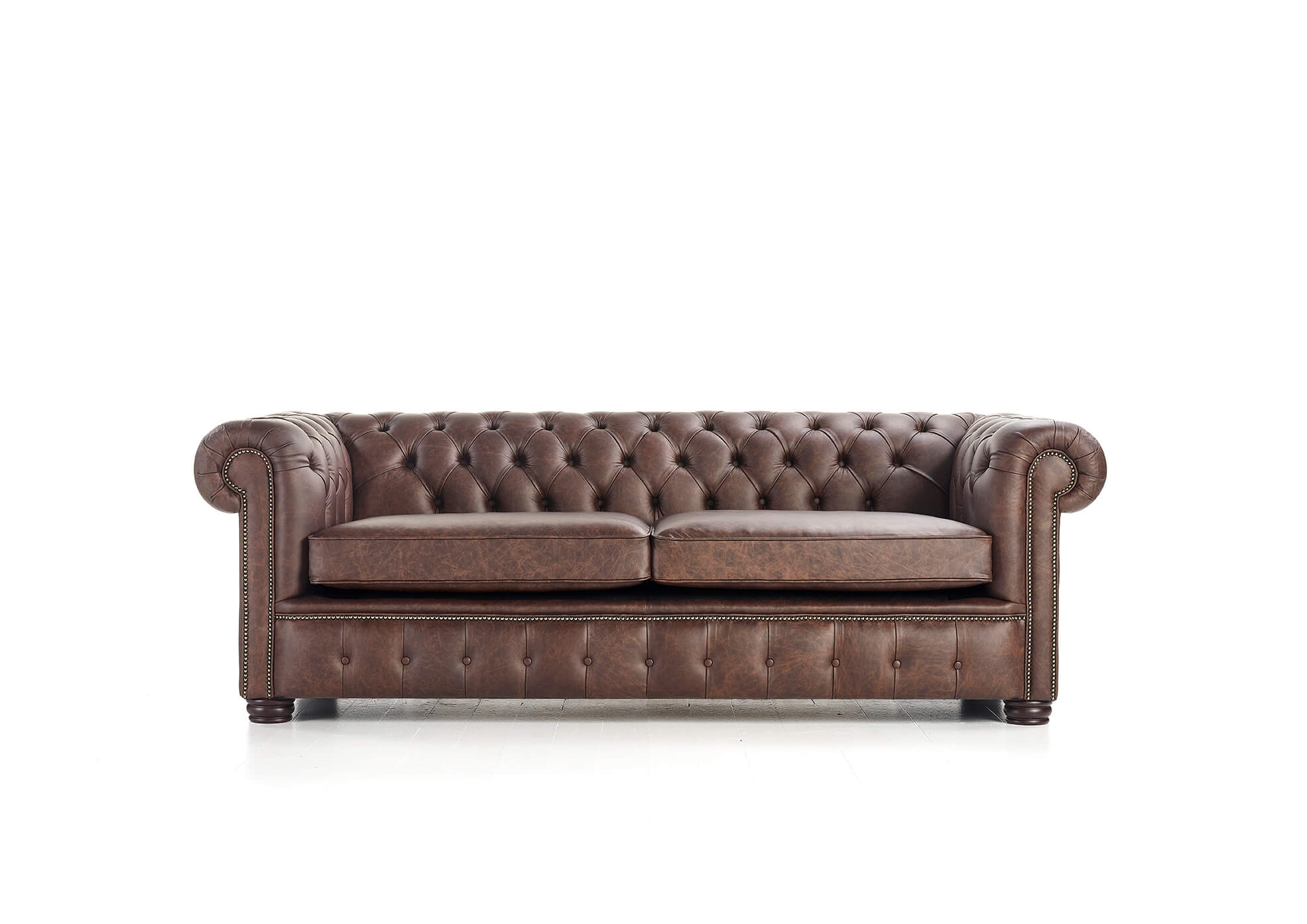 Fauteuil Chesterfield London Cuir Marron